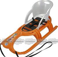 Санки KHW Kunststoff Snow Tiger comfort, оранжевый (29412)