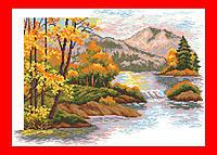 """Набор для вышивания счетным крестом, """"Осенний закат в горах"""" Матренин Посад"""