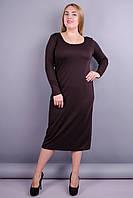 b6e284449fa Красивое платье супер батал. Шоколад. 60