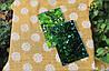 Фриз зеленый, бронза, графит 60*150 фацет.зеркальная плитка в интерьере.