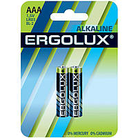 Батарейка ERGOLUX LR03 BL2 1,5V Alkaline (AAA 2 шт)