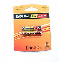 Батарейки X-DIGITAL LR03 (AAA) 1.5V 2 шт блистер