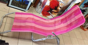 Шезлонг для отдыха клетка 160 см (розовый, синий,жёлты), фото 2