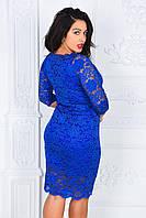 Женское платье из гипюра БАТАЛ