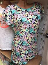 Женская футболка батал с принтом (Турция)