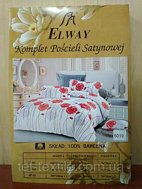 """Комплект постельного белья Elway """"Евро"""" 5019, фото 2"""