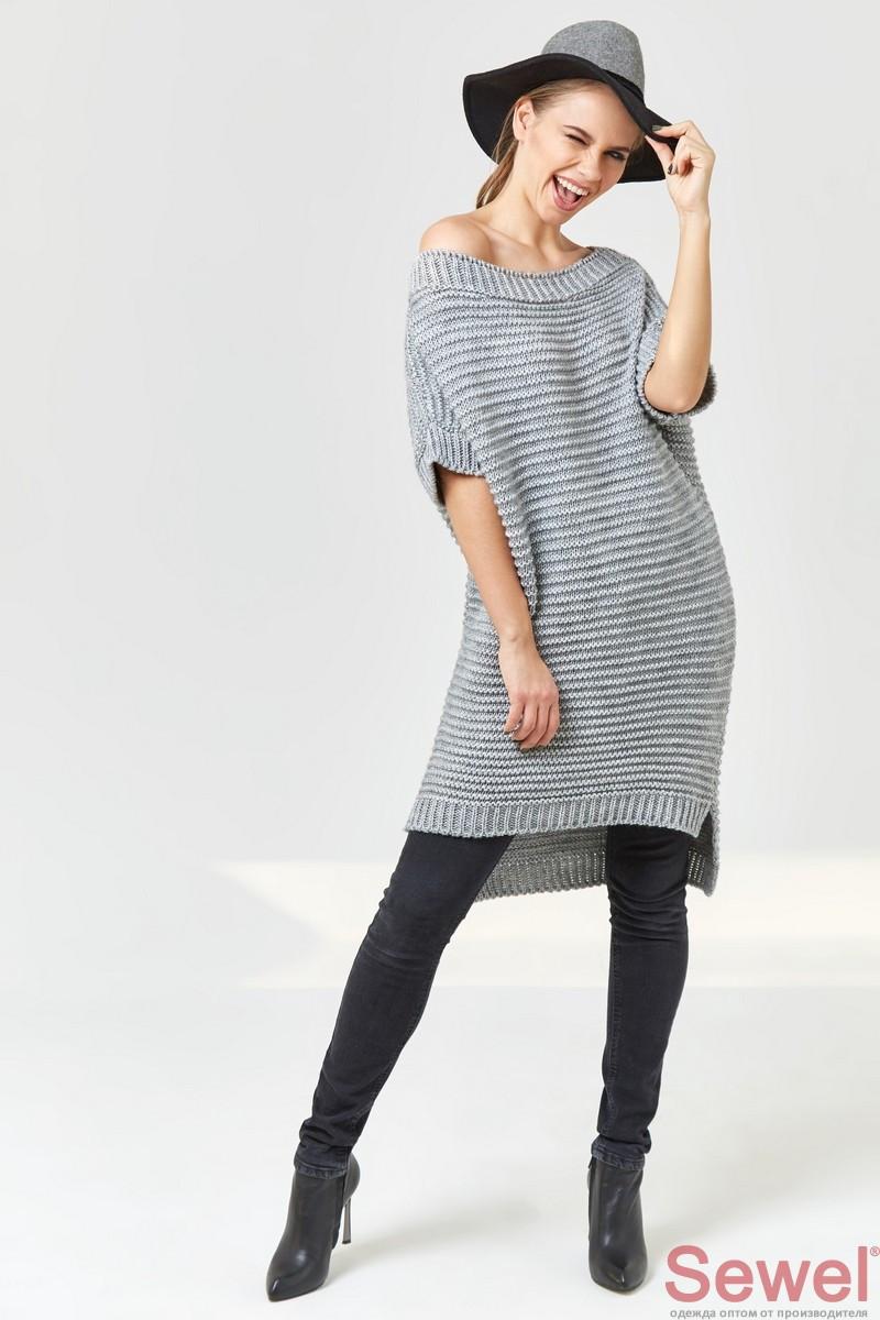 Женская теплая туника свитер