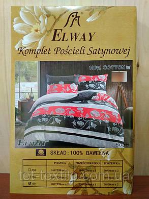 """Комплект постельного белья Elway """"Евро"""" 5068, фото 2"""