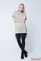Женская теплая туника свитер безрукавка- Распродажа