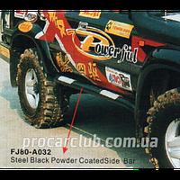 Land Cruiser 80 1990-1996 пороги  декор. метал.Black  FJ80-A032 FJ80-A032/P