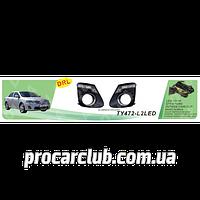 Фары доп.модель Toyota Corolla 2011/TY-472-L2LED-W/накладки доп/дневного света DRL/эл.проводка TY-472-L2LED-W (6)