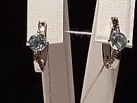 Серебряные серьги Ася с топазами. Артикул 2167/9р-TSKB, фото 1
