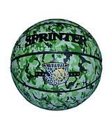"""Баскетбольный мяч """"GROUPSTAR"""" №7 зелёный камуфляж"""