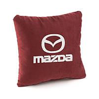 Подушка с логотипом Mazda флок, фото 1