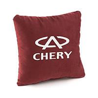 Подушка з логотипом CHERY флок, фото 1