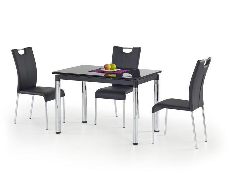 Стол L31 хром раскладной черный (Halmar ТМ)