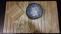 Деревянный коврик на подлокотник дивана + подставка под чашку. Дуб ясень.