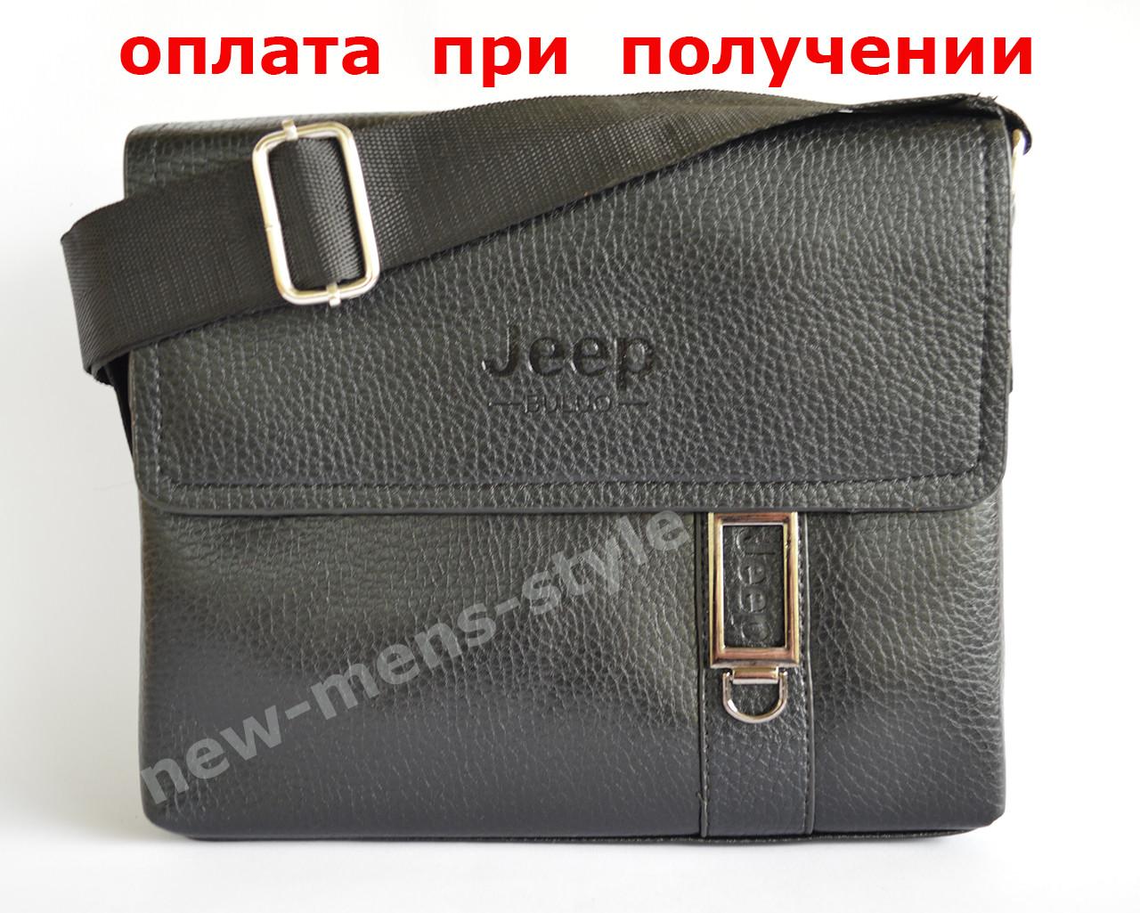 Чоловіча шкіряна фірмова сумка барсетка Jeep Polo класика купити