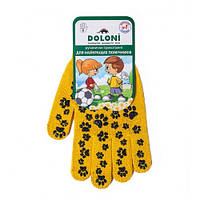 Рабочие перчатки для детей трикотажные с ПВХ 10 класс Doloni Киттислед 669