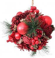 Новогодний декоративный венок шар