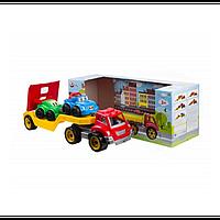 """Іграшка """"Автовоз з набором машинок ТехноК"""", арт. 3909 размер 64×21×24 см"""