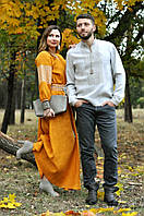 Комплект вышиванка мужская и женское платье