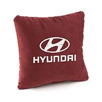 Подушка с лого Hyundai флок, фото 1