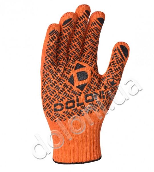 Рабочие перчатки трикотажные с 2-сторонним обливом ПВХ Doloni 4470
