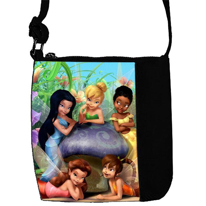 Черная сумка для девочки с принтом Феи