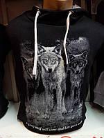 Модная мужская толстовка с волками от производителя