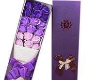 Подарочный букет роз 3 оттенка фиолетового. Ручной работы для любимых женщин