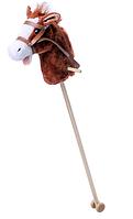 Лошадка на деревянной палке, голова коня для всадника, звуковые эффекты