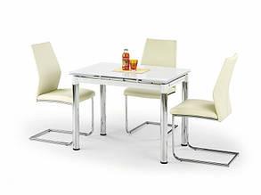 Стол стеклянный обеденный Logan 2 белый (Halmar ТМ), фото 2