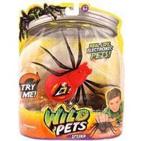 Интерактивный паук Wild Pets Moose красного и серого цвета