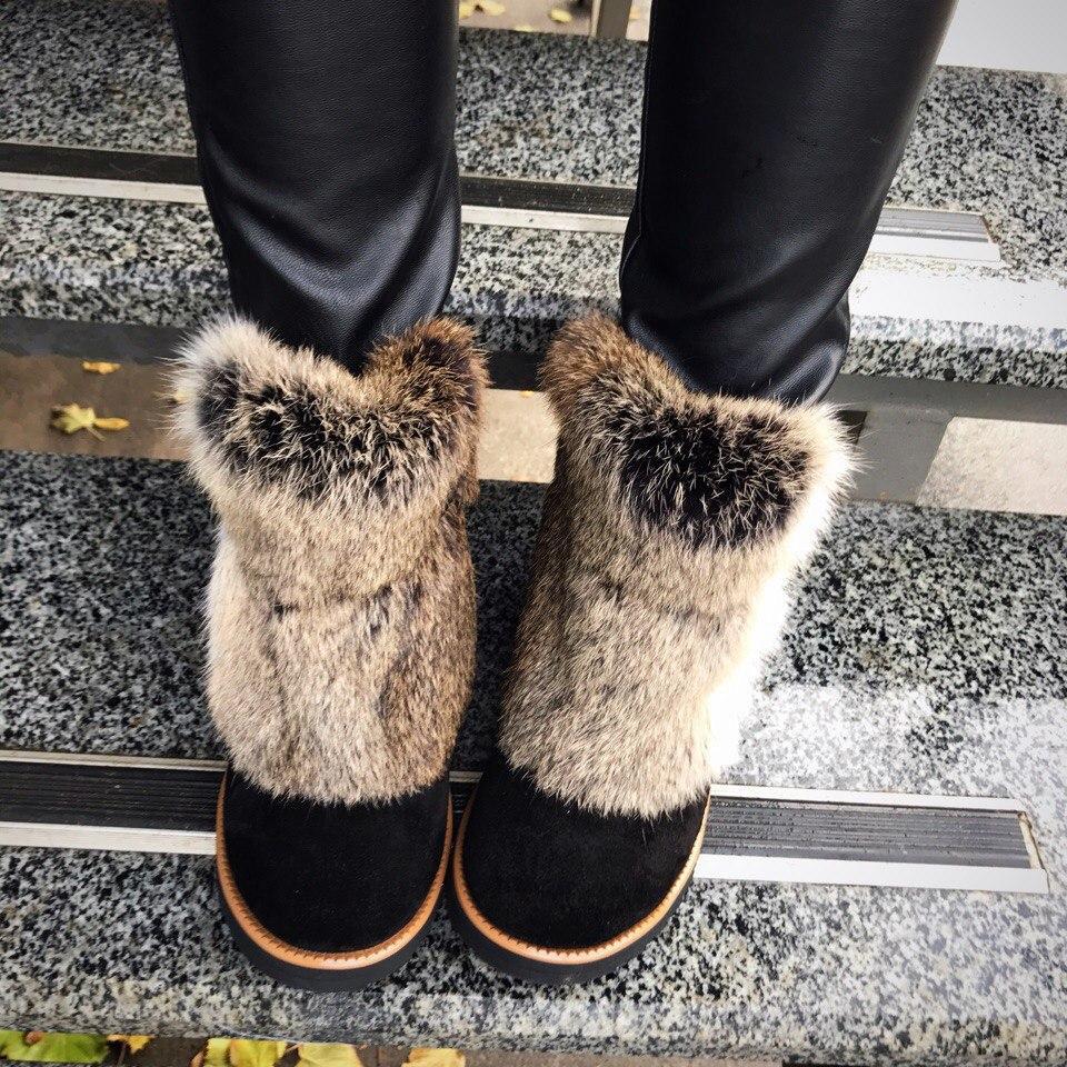 Угги с мехом натуральная замша женская зимняя обувь от производителя ... 9cf57022b28