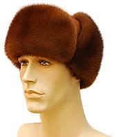 Мужская меховая шапка из меха норки (орех)