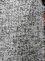 Костюмно - пальтовая шерстяная ткань Букле (серого цвета)