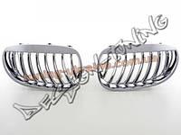 Решетка радиатора ноздри на Bmw 5 E60/E61 2005-2010 косые хром