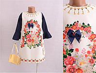 Нарядное платье с сумочкой для девочки на возраст 6лет Турция;