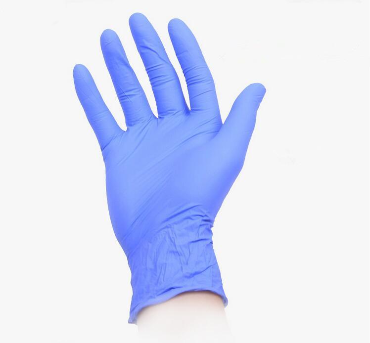 Перчатки одноразовые, 100 шт.  Нитриловые/синие.