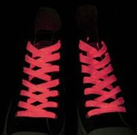 Люминесцентные шнурки, светящиеся.