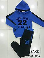 Спортивный костюм теплый на мальчиков 170,176 роста Tayfur kids ярко-синий
