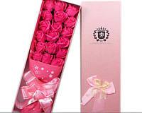 Подарочный букет 18 роз ручной работы для любимых женщин