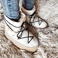 Moon boots женские луноходы,угги,унты цвет белый код 373, фото 1