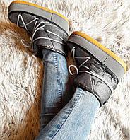 Moon boots женские луноходы,угги,унты цвет серебро