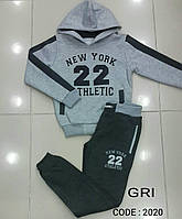 Спортивный костюм на байке на мальчиков 158,170,176 роста Tayfur kids светло-серый