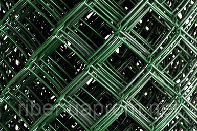 Сетка рабица в ПВХ 1.5 м  25*25 2.5 мм