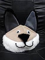 Карнавальная новогодняя маска шапка Котик