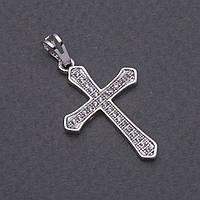 Подвеска Xuping Крест серебристый 3х2см