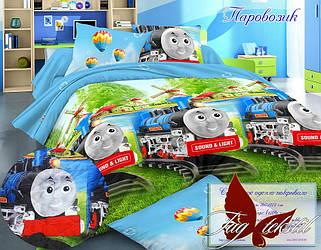 Стеганное покрывало-одеяло для детей Паровозик (160х212) (Pokryvalo-016)